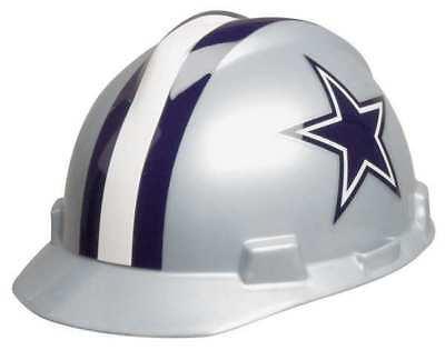 Dallas Cowboys Hard Hat (MSA 818392 NFL V-Gard Hard Hat, Dallas Cowboys, Gray/Blue )