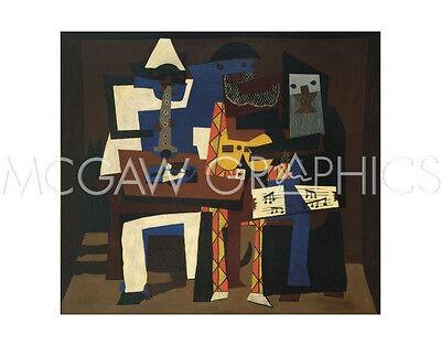 "PICASSO PABLO - THREE MUSICIANS - Artwork Reproduction 11"" x 14""  (650)"