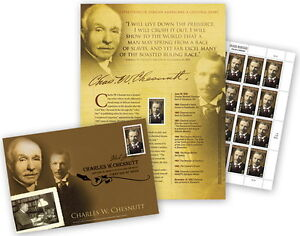 USPS-New-Charles-W-Chesnutt-Cultural-Diary-Page-with-Maxi-Card