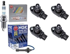 MAZDA RX8 4 x IGNITION COIL PACKS + 4 x NGK SPARK PLUGS + NGK SILICONE LEADS