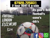 Rent Book Football pitch goals session 2hr £24