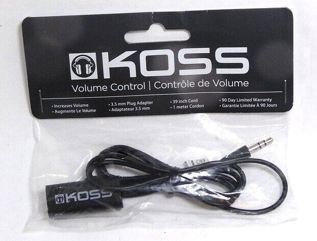 KOSS 164210 VC20 In-Line Headphones/Earphones Volume Control extension Cable