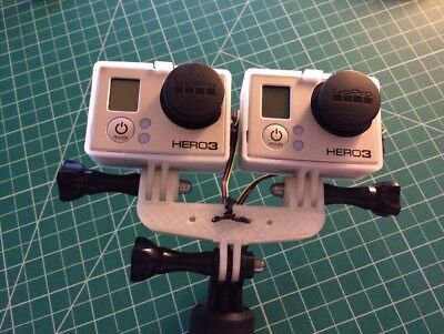 Go Pro 3D Mount Adapter GoPro Hero 3 3+ 4 5 6...