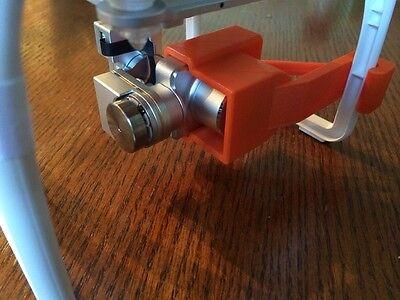 DJI Phantom 2 Vision plus 3D Printed Camera Gimbal lock & lens cover.