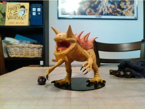 The Tarrasque Giant Lizard Demon DnD Dungeons & Dragons Large Tabletop Figurine