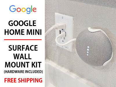 Google Home Mini Wall Mount Assorted Colors Screws Included - Mount it Anywhere