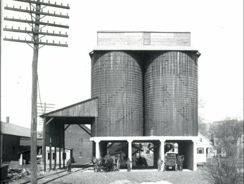 Coal Storage Tower Silos - Giffin Coal Co in Keene New Hampshire - N Scale 1:160