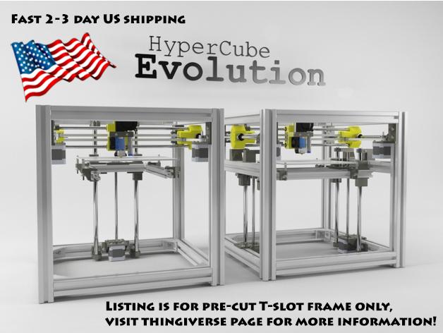 HyperCube Evolution 3D printer t-slot frame kit double Z - P