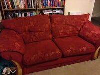 Sofa, Two Armchairs & a Foot Stool