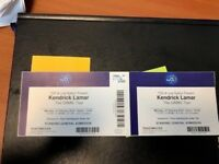 2x Kendrick Lamar Tickets @ The London o2 Arena 12th February