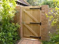 Solid Garden Gates Made to Fit (Delivery and Installation Offered)