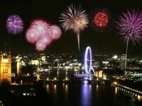 New Years Eve NYE Fireworks London - Blue Zone