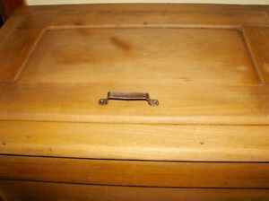 Antique Farmhouse Kitchen Arctic Ice Box Solid Ash Wood Original Kitchener / Waterloo Kitchener Area image 5