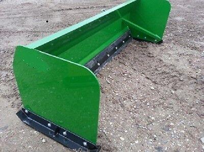 New 72 6 Snow Box Pusher Plow Blade For John Deere Tractor Also Skid Steer Moun