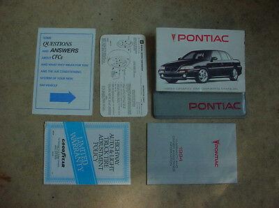 GM 94 PONTIAC GRAND AM FACTORY OWNERS MANUAL & (94 Pontiac Grand Am Manual)