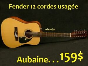 AUBAINE Guitare 12 cordes usagée FENDER CD100-12 NATURELLE