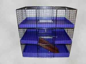 guinea pig rabbit chinchilla cage 3 level 80 pre assembled