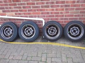 13 inch banded steels 4x100