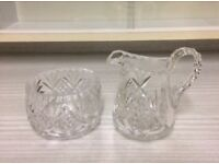 Glass Jug and Bowl Set