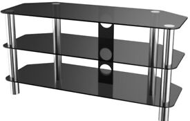 Black Glass TV stand for sale! Immaculate condition!