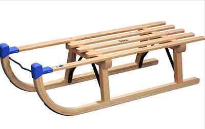 Holzschlitten Davos Buche-Hartholz, 90 cm  Kinderschlitten Holzschlitten