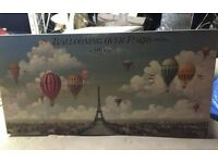 Ballooning over Paris canvas