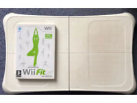 Wii Fit balancing board and game