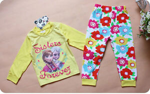 "Frozen  Reine Des Neige Anna & Elsa  "" Sister for ever""  Pyjamas"
