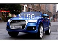 Licensed Audi Q7 ride on car with remote control music and lights (leeds) only £190