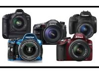 Dslr camera with accessories wanted