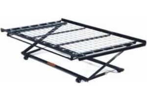 Metal twin pop up trundle bed frame