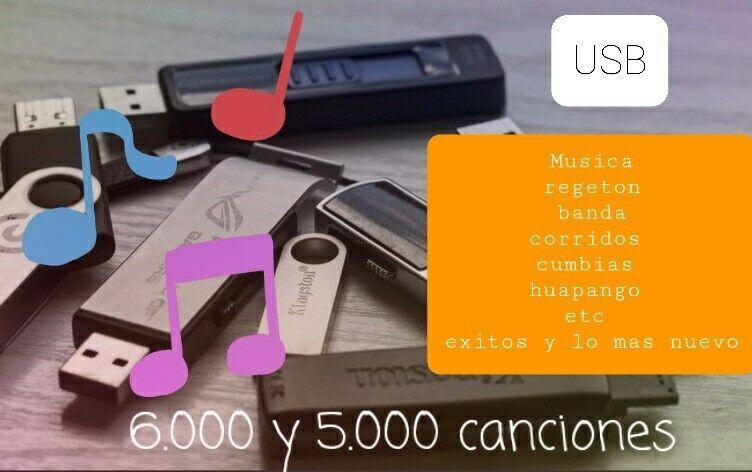 Memorias usb Con Musica