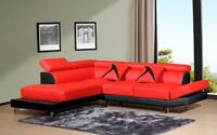 Liquidation red white or black modern sectional