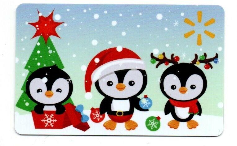 Walmart Penguins Snow Christmas Gift Card No $ Value Collectible FD-101280