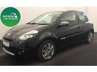 ONLY £118.02 PER MONTH BLACK 2012 RENAULT CLIO 1.2 DYNAMIQUE TOMTOM 3 DOOR