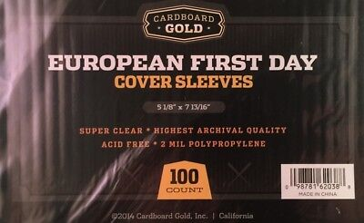 1000 CBG European First Day Cover 2 mil Soft Poly Sleeves protectors