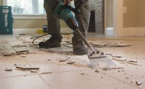 Floor tile and coverings removal tools
