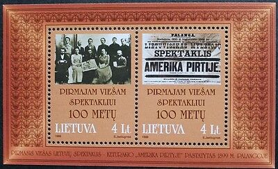 Centenary of first public performance of Lithuanian drama stamp sheet, Ref:MS708