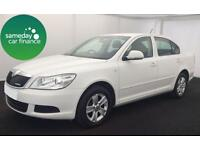 £154.14 PER MONTH WHITE 2012 SKODA OCTAVIA 1.6 CR GREENLINE II DIESEL MANUAL