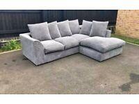 Handmade Corner Sofa - Corner Sofa Set - 2 3 Seater Corner Sofa Set - Brand New - Grey Sofa Set
