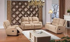 Fabric Recliner 3pc Couch Set (AC08)