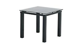 Black Glass Side Lamp Table