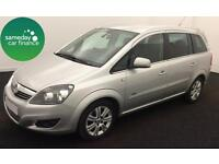 £183.41 PER MONTH SILVER 2013 VAUXHALL ZAFIRA 1.7 E/F DESIGN 7 SEATS WITH NAV