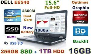 """3D-Design DELL E6540 i7-4600M (256GB SSD + 1TB) 16GB 15.6"""" FHD"""