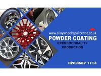 £50 off Alloy Wheel Refurbish by powder coating. free Loan wheel London W7 3TU call/text07731968575