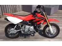 Honda crf 50. Kids Xmas genuine bike.