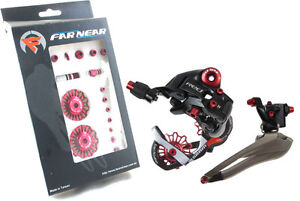 SRAM-Rival-Road-Front-Rear-Derailleur-Tuning-Bolts-Pulley-Kit-Anodizing-Red