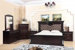 Tufted Back Queen Bedroom Set - 8 PC Set (ME227)