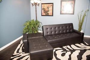 2PCS BONDED LEATHER SECTIONAL WITH PULL OUT $599 LOWEST PRICE Kitchener / Waterloo Kitchener Area image 1
