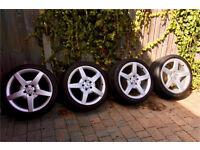 Mercedes amg clk alloys original oem 18 inch concave staggered deep dish bargain